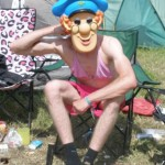 Postman Pat camped with us