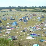 Graveyard of abandoned tents, 2005.