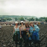 Pyramid hadn't been rebuilt by then, after '94, but this is the main stage...waiting for Robbie I think....weather not detering us as you can tell!!!