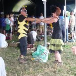 These dancing bees were having a fantastic time.