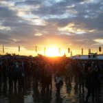 Sunset waiting for Bjork to come on