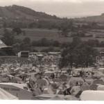 Pyramid stage and Galstonbury Tor - Saturday eve 1984