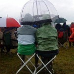 A rare rainy moment during Glasto 2009!