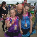 my 2 girls with michael eavis another great year