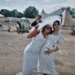 young girls getting married at glastonbury festival 2008