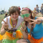 Pops and Rachie at their first glasto