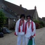 Two Elvis' at the Eavis' farm.