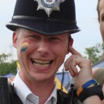 the laughing police man