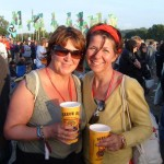 Dawn and Claire enjoying a cider, really enjoying a cider!