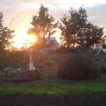 sun set over the craft fields