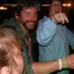 Sue, Michael and Jenny having a jolly good time listening to that popular beat combo, Orbital.