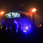 The Park Stage on Friday night