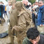 romin gets slopped by  passing mud fiends