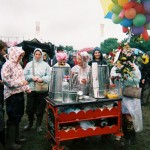 The amazing tea ladies and their lovely warm tea trolley. thank you.