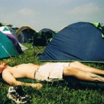 This is me chilling out with the satisfaction of the tent being up...bliss