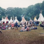Tipi field my first year at Glastonbury