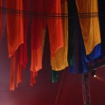 Flags in Avalon stage tent