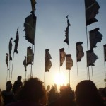 Sunset at the Pyramid Stage on Saturday