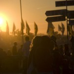 Sunset at the dance village.