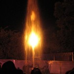 water flames