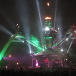 Arcadia's fantastic fire and light show accompanied with pumping drum and bass