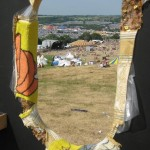 View from behind one of the Glastonbury 40 letters.