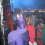 The Purple Prisoner (takebackparliament)prepares to take the stage with The Flaming Lips