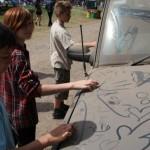 dirty car & kids ..