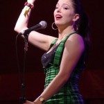 Imelda May gesticulating during her set at the Avalon stage on Sunday evening