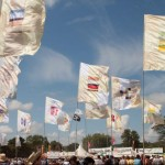 West Holts Stage flags