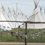 tipis and bunting.