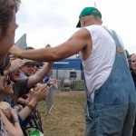 Seasick Steve shakes a hand or two