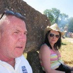 chilling out at the stone circle