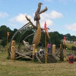 Dragon sculpture in the Stone Circle field.