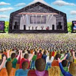 I've just completed this amazing acrylic painting of a band on the pyramid stage.
