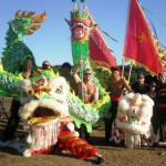 The Chinese Lions and Dragon