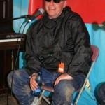 Madness frontman Suggs at the Free University Of Glastonbury.