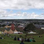 View over the festival from The Park hill.