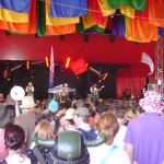The Lancashire Hotpots on the Avalon stage.