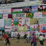 Wall of protest down near John Peel.