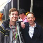 Steve Lamacq outside the John Peel Stage just before Fight Like Apes. His review of the band Brother cracked us up!