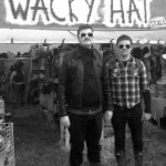 Swedish dubstep duo Gustav and Ludwig fail to find the humour in Wacky Hats sign.
