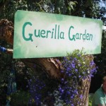 the brilliant Guerilla Garden in the Kidz Field, with the lovely creator and head Guerilla, Timmeh :)