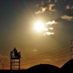 Watchtower at sunset
