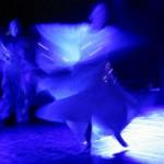 Dancers on saddle stage