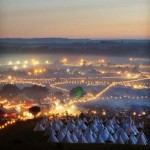 A beautiful view of Glastonbury in all it's wonder!!