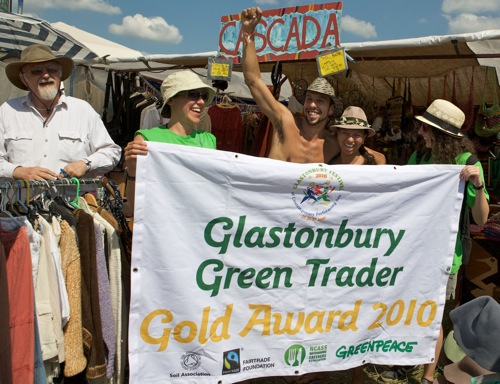 Green Trader Awards at Glastonbury 2010 ©Miles/Greenpeace