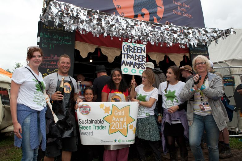 Seasonal Samosas winning the Gold Green Sustainable Trade Award for food