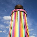 The Park tower with bright new ribbons