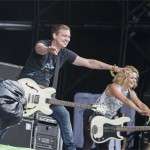 The Subways working the crowd